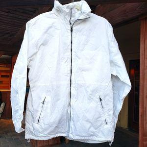 Montego men's white windbreaker jacket medium